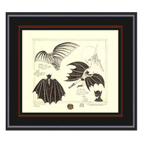 BATMAN Da Vinci by Bob Kane Limited Edition Framed Print
