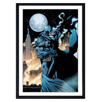 BATMAN and CATWOMAN 'Kissing the Knight' Giclee from Clampett