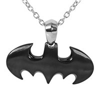 BATMAN Stainless Steel Black Bat Pendant