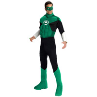 THE GREEN LANTERN Muscle Chest Adult Costume with Ring