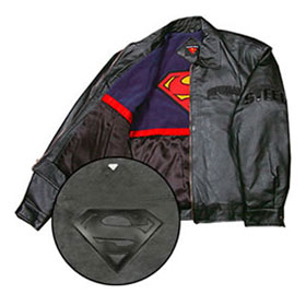 SUPERMAN Adult Leather Jacket
