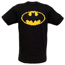 BATMAN Logo 8-Bit Digi Art EXCLUSIVE Adult T-Shirt