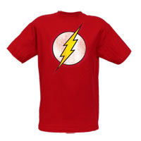The Flash Distressed Logo Adult T-Shirt