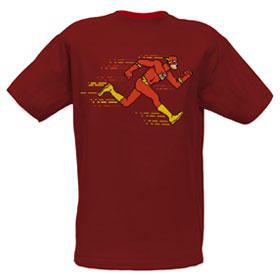 THE FLASH Running 8-Bit Digi Art EXCLUSIVE Adult T-Shirt