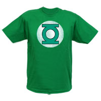 GREEN LANTERN Distressed Logo Adult T-Shirt