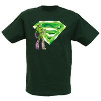 Lex Luthor and Kryptonite Logo Adult T-Shirt