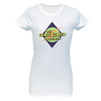 The Comic Center of Pasadena Women's White T-Shirt