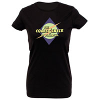 The Comic Center of Pasadena Women's Black T-Shirt