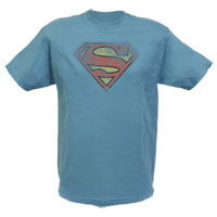 Superman Distressed Shield Adult T-Shirt