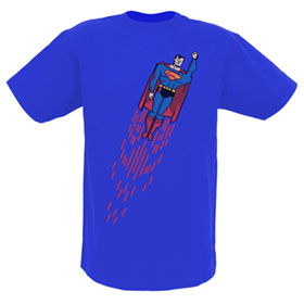 SUPERMAN in Flight 8-Bit Digi Art EXCLUSIVE Adult Royal Blue T-Shirt