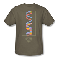 SUPERMAN Science Safari Green EXCLUSIVE Adult T-Shirt