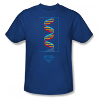 SUPERMAN Science Royal Blue EXCLUSIVE Adult T-Shirt