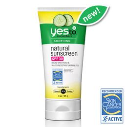 Yes To Cucumbers Natural Sunscreen SPF 30