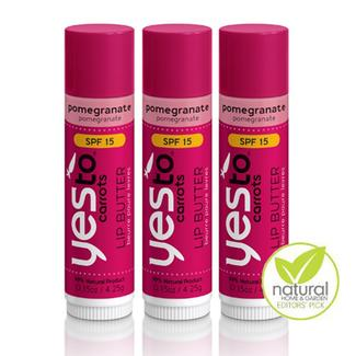 Lip Butter - Pomegranate with SPF 15 - Set of 3 Image