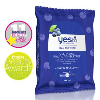 Yes to Blueberries Travel Cleansing Towelettes Image