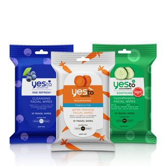 Yes to Travel Facial Wipes Trio Image