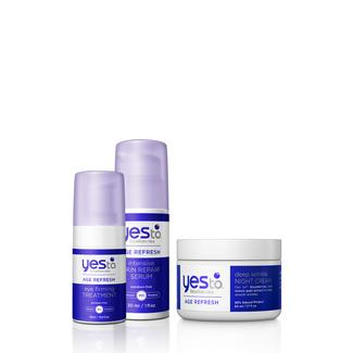 Yes To Blueberries Age Refresh Nighttime 3-Step Image