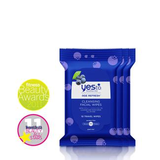 Yes to Blueberries Travel Wipes - 10ct (3-pack) Image