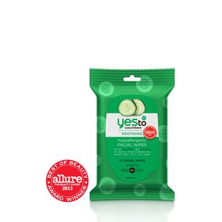 Yes to Cucumbers Travel Facial Wipes - 10ct Image