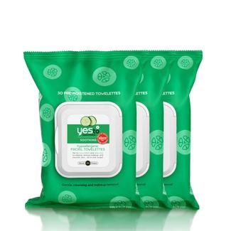 Stock Up & Save 15% - Yes to Cucumbers Facial Wipes - 30ct Image