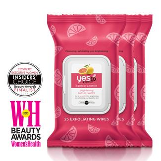 Yes to Grapefruit Rejuvenating Facial Wipes - 25ct - 3 Pack Image