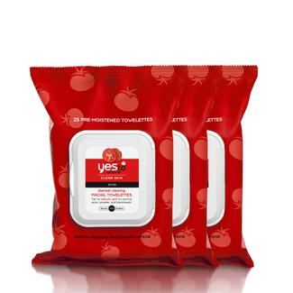 Yes to Tomatoes Blemish Clearing Facial Wipes - 25ct - 3 Pack Image