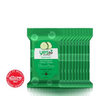 Yes to Cucumbers Travel Facial Wipes - 10 ct - 10-pack Image