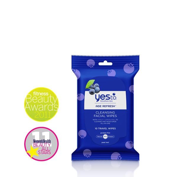 Yes To Blueberries Travel Cleansing Wipes 8 Ct