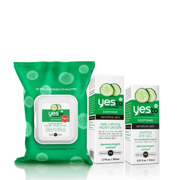 Yes To Cucumbers Sensitive Skin Care Regimen Bundle