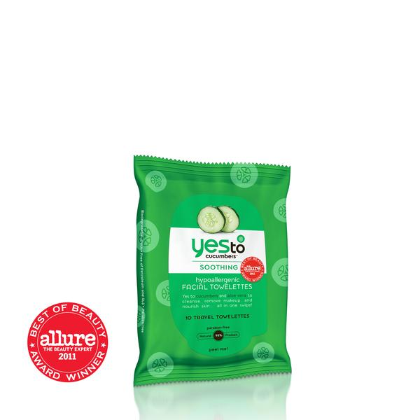 Yes To Cucumbers Travel Facial Wipes 10ct